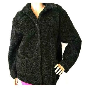 Karen Kane Fuzzy Grey Jacket 2X